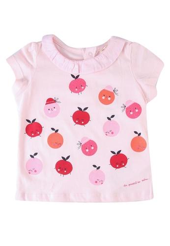 Du Pareil Au Même (DPAM) pink Collar Blouse 0014CKA3281B30GS_1