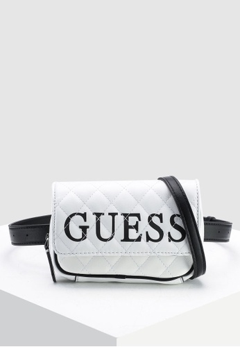 Guess white California Dream Convertible Crossbody Belt Bag  E8E18ACADD48D5GS 1 f212997ea0d8b