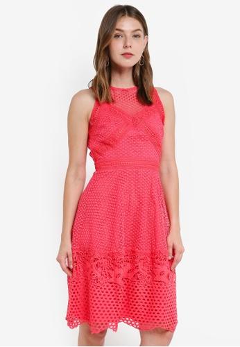 Little Mistress pink Crochet Dress 68924AA7A5A8E7GS_1