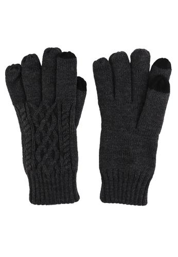 GLOBAL WORK black Classic Knit Gloves 88473AC08378ADGS_1