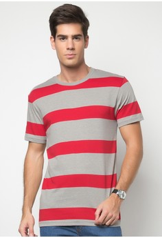 Bench Men's Round Neck Striped Tee