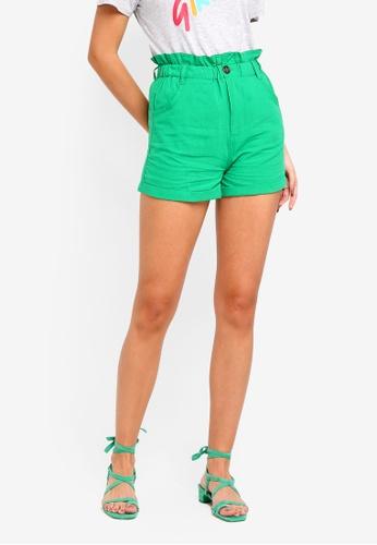 Supre green Paperbag Waist Shorts 89550AA4822F5DGS_1