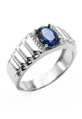 Elfi blue Elfi 925 Genuine Silver Engagement Ring R50 (Blue) 1C839AC5BC1B39GS_1