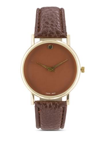 簡約esprit童裝門市仿皮圓錶, 錶類, 飾品配件