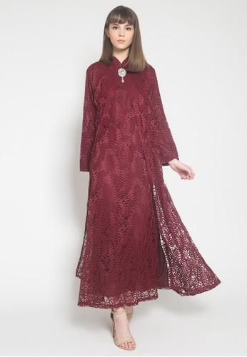 Kasa Heritage red Lilian Dress - Red 47644AABEB935CGS_1