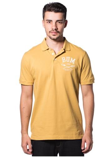 Bum Equipment yellow B.U.M Equipment Men Polo Tee-S/S (MD. YELLOW) BU054AA0RHDPMY_1