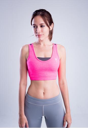 AMNIG pink Amnig Women Fuse Pro Cross Back Sport Bra 31815AABE7A5E7GS_1