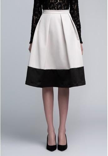 雙色圓裙esprit 請人, 服飾, 及膝裙