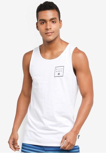 Billabong white Stacked Logo Tank 169DDAAB5E7836GS_1