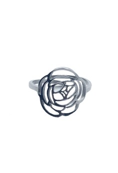 Stainless Steel Adjustable Ring Peony