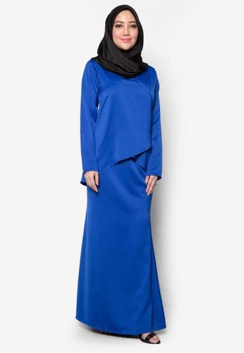 Amar Amran blue Kurung Moden Qhalisa AM362AA20PTFMY_1