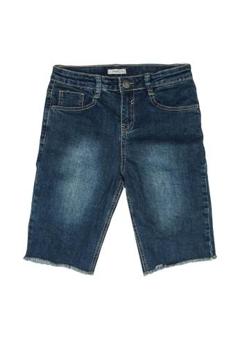 FOX Kids & Baby blue Dark Denim Bermuda Shorts B12DAKA9F513AAGS_1