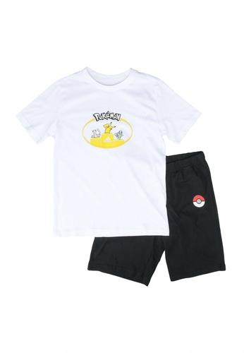 ADIDAS white young boys pokemon short sleeve set 3F5CEKAFE74B72GS_1
