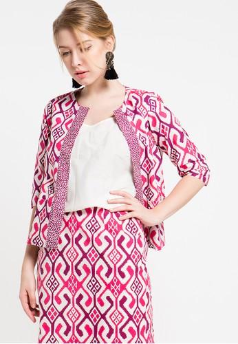 Bateeq pink Long Sleeve Cotton Cap Cardigan BA656AA62ZTTID_1