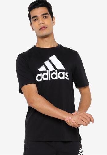ADIDAS 黑色 essentials t-shirt BBE85AA37E6DC4GS_1