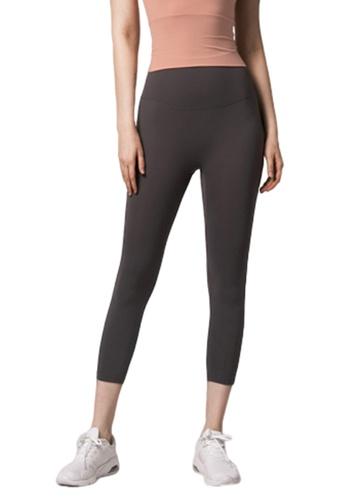 LYCKA grey BSY1012 Lady Quick Drying Running Fitness Yoga Sports Leggings Grey B0169AA4C24510GS_1