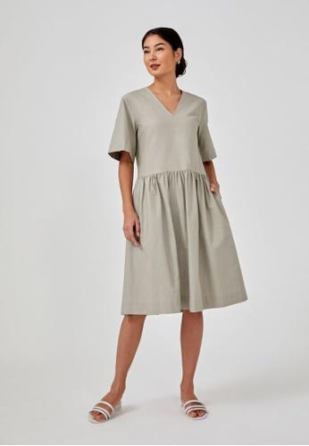 Love, Bonito grey Malika Relaxed Dropwaist Dress 8542CAA0EB297FGS_1