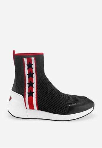 ASH black Jango - Black Star elements High-Top Sneakers AF754SH86C7BF8GS_1
