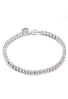 Treasure by B & D H198 Mini Beads Chain Bracelet (Silver Plate)