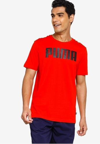 PUMA red Essentials Men's Tee 9D56DAA94D691BGS_1