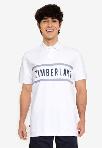 Timberland 白色 AF TFO CC Brand Carrier Regular Polo 襯衫 52308AA0969AACGS_1