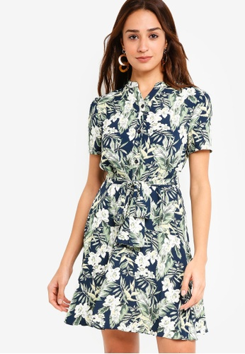 ZALORA multi and navy Dropped Waist Dress D915EAAE4E3F70GS_1