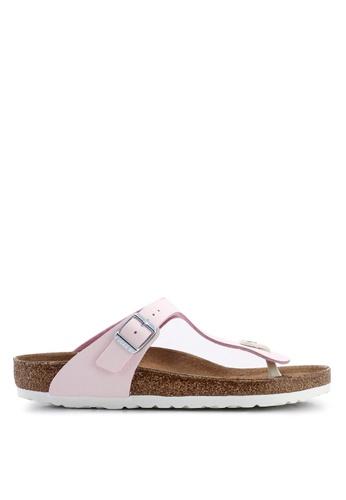 43c49d78ef4 Birkenstock pink Gizeh Sunkissed Sandals 59851SHEA63C6CGS 1