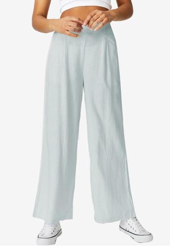 Cotton On blue Wide Leg Paradise Pants 239C7AA7AD9106GS_1