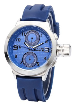 Newyork Army Men's NYA8804 Blue Dial Rubber Strap Watch