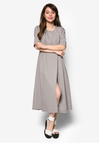 裹飾束腰短袖洋裝, 服飾, esprit outlet 台灣洋裝