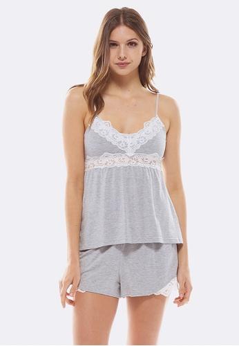 Deshabille grey Essential Cami & Shorts Gift Set Grey Marle CBB6AAA8233FCDGS_1