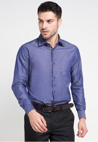 GQ MEN'S WEAR blue Regular Fit Long Sleeve Shirt GQ410AA0VSG1ID_1