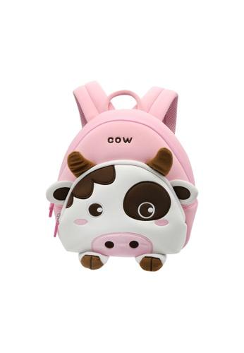 Nohoo pink Nohoo Kids Backpack Moo Moo (Pink) AE295KCF81A46EGS_1