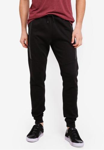 Burton Menswear London 黑色 抽繩縮口運動褲 67F62AA3F01974GS_1