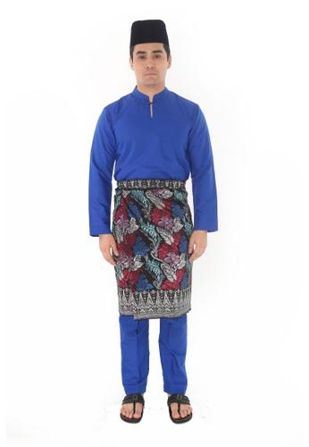 Amar Amran blue Baju Melayu Gumbae 645D9AA389AFF0GS_1