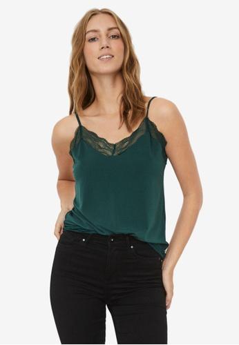 Vero Moda green Alberta Lace Singlet 6C47BAA3440549GS_1