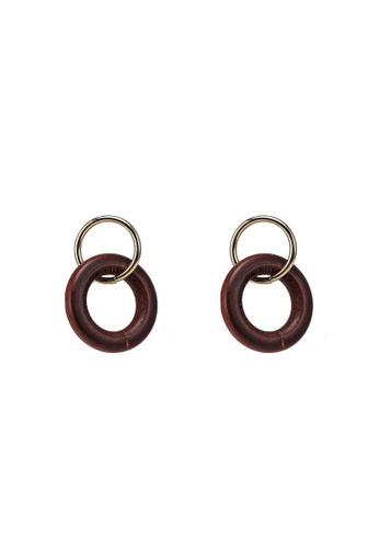 niko and ... brown Circled Earrings 67439AC26A8857GS_1