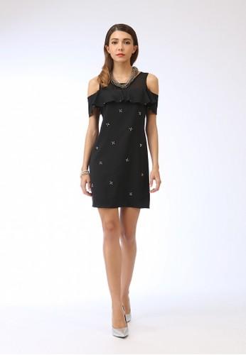 OL都會女性性感露肩直筒洋裝, 服飾, zalora 衣服評價短洋裝