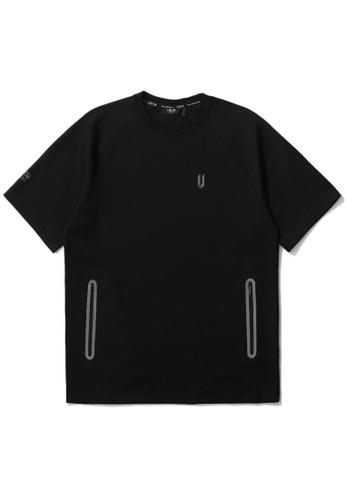 Fivecm black Side zip detail tee F7095AA3CAE297GS_1