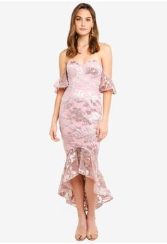 e422d28441e Elle Zeitoune pink Off Shoulder Dress With Soft Lace Design And Fish Tail  Hemline 09D7BAA874DC41GS 1