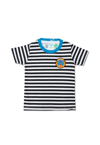 Pop Kidswear white Pop Kidswear Space Explorer Kids Tee 252B4KA0ACCF0EGS_1
