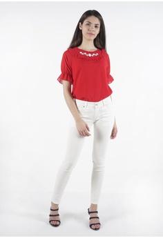 fb0a88b2d7ddf7 nicole white Nicole Cotton Twill Skinny Pant CAD84AA4763182GS 1