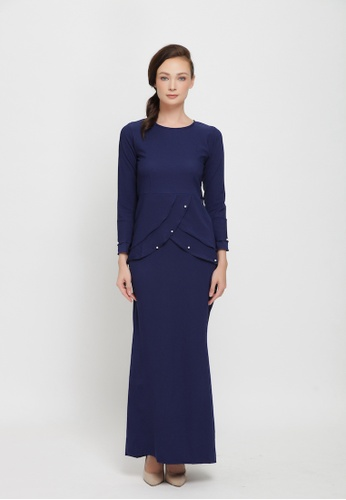 Sarimah Kurung from Colours Thread Clothing in blue_1
