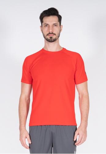 AMNIG red Amnig Men Training Raglan T-Shirt (Red) 252FCAAD4D879CGS_1