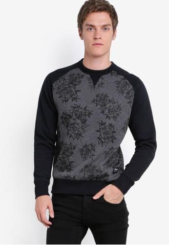 Wrung 灰色 Fleur X Gumo 花卉連肩長袖衫 WR395AA33PDEMY_1