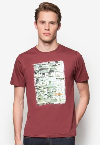 紐esprit台灣約城市圖案T 恤, 服飾, 印圖T恤