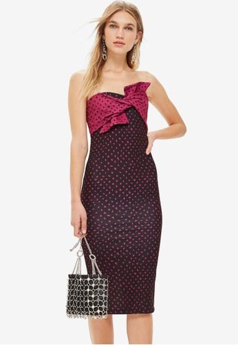 TOPSHOP 粉紅色 Bow Twist Midi Dress 20F0FAA86BA498GS_1