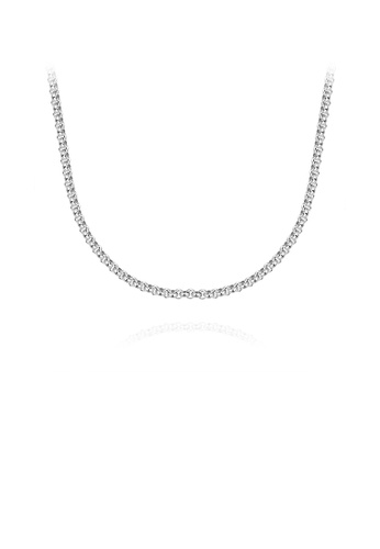 Glamorousky silver Vintage Fashion 316L Stainless Steel Geometric Necklace 45cm 07ABBAC522FDDBGS_1