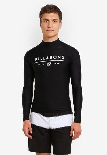 Billabong black All Day Unity Long Sleeve Rashguard BI783AA0RN1FMY_1