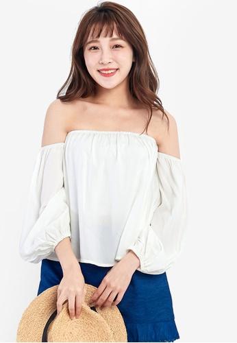 05fcd8c2ae08f Shop Tokichoi Off-Shoulder Blouse Online on ZALORA Philippines